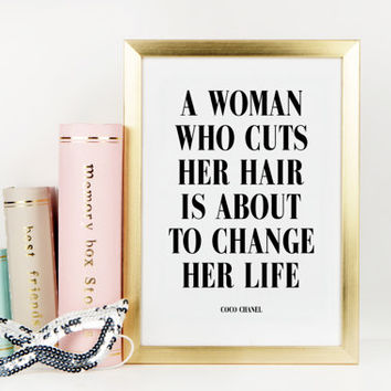 HAIR SALON DECOR,Coco Chanel Quote,Chanel Print,Hair Salon Wall Art,Beauty Salon Decor,Salon Wall Art,Fashion Print,Typography Print,Quote
