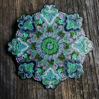 "Whitaker's ""Blooming Lotus V2"" Color Edition Only 100 Made 2"" Mandala Hat Pin"