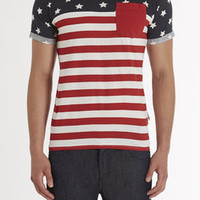 American Flag Tee w/ Pkt