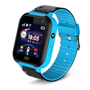 Children Smart Watch Kids Smart Watch Fashion Video Calling Touch Screen 2G Smart Watch 32MB+32MB 400mAh Locator Photography