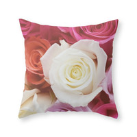 Society6 Romantic Rose Throw Pillow