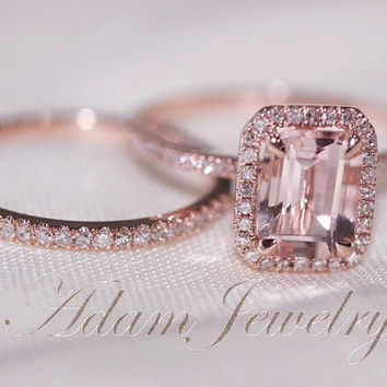 best gold morganite ring emerald cut products on wanelo