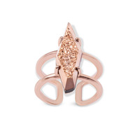 Boyd Cocktail Ring in Rose Gold Drusy | Kendra Scott