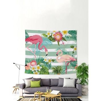 Flower & Flamingo Tapestry