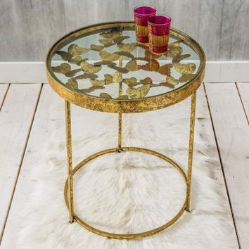 Gold Butterfly Side Table