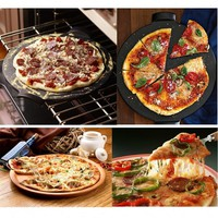Pizza Pan Pizza Mold Shallow Pizza Pan Mold Non Stick Heavy Steel 9/10 Inches Champagne Gold