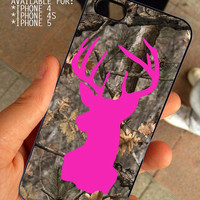 Deer On Camo for iPhone 4 / 4s or 5 case cover, Black or White