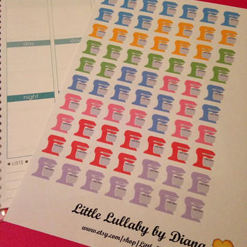 Set of 70 Pre-cut Stand Mixer Stickers   - Perfect for your planner or scrapbook
