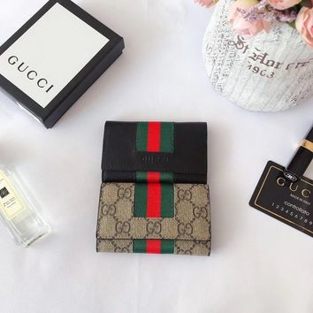 GUCCI WOMEN'S LEATHER KEY CASE BAG
