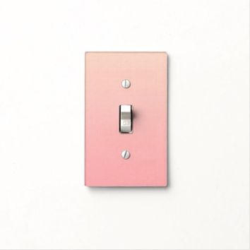 Pink Sunrise Light Switch Cover