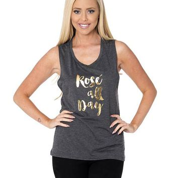 Bachelorette Party Tank Tops Rose all Day // Bachelorette Party Tank Tops for the Bachelorette, Bridesmaids, Maid of Honor / 8803