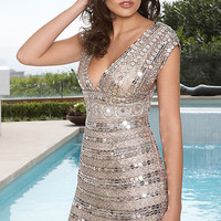 Homecoming Prom Silver  Sequin Scala Dress size 4
