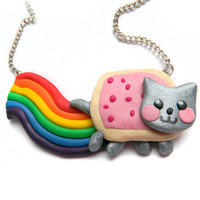 Nyan Cat Necklace by OlechkaDesign on Etsy