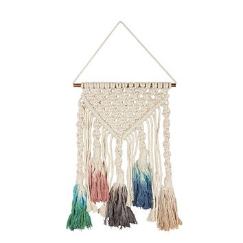 Macramé Large Dip Dye Boho Decor in Multicolor