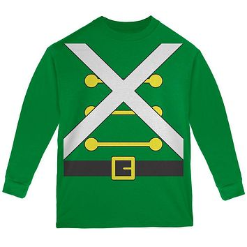 Christmas Toy Soldier Costume Youth Long Sleeve T Shirt