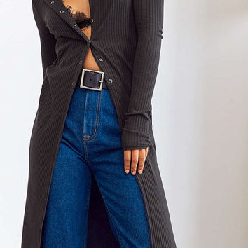 Silence + Noise Terra Longline Snap Button Top | Urban Outfitters