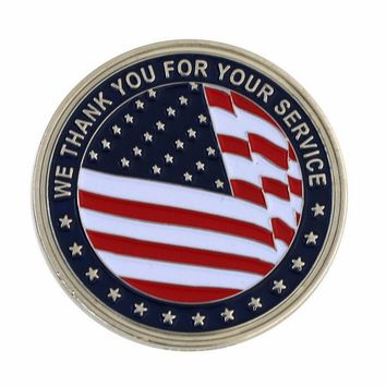 WE THANK YOU FOR YOUR SERVICE CHALLENGE COIN