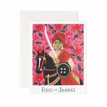 Rani of Jhansi Greeting Card by RIFLE PAPER Co. | Made in USA