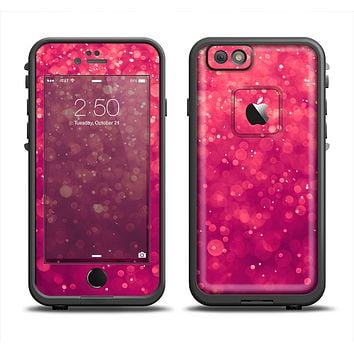 The Unfocused Pink Glimmer Apple iPhone 6 LifeProof Fre Case Skin Set