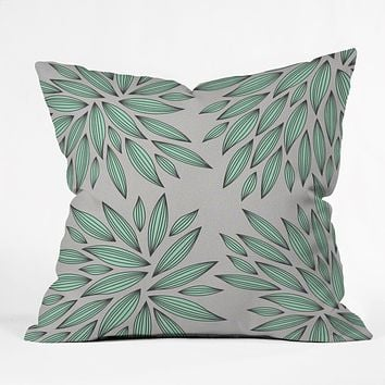 Gabi Mint Throw Pillow