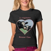 Holstein Cow and Calf Vegetarian T Shirts