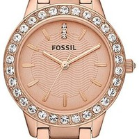FOSSIL Jesse Three Hand Stainless Steel Watch - Rose