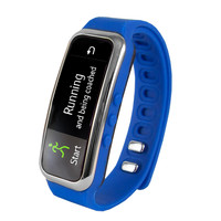 """Supersonic 0.91"""" Fitness Wristband With Bluetooth Pedometer, Calorie Counter and More-Blue"""