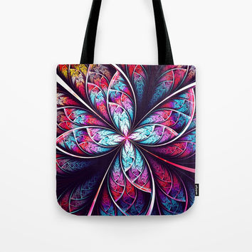 Abstract Flower Tote Bag by Oksana