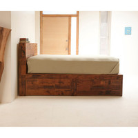 Reclaimed Old Growth Storage Bed, Maximize the Space and Style in your Sleeping Headquarters.