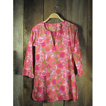 Cotton Tunic Top Very Raspberry