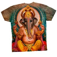 "Yizzam- India - ""Ganesh Hindu God"" -Tagless- Mens Shirt-X-Small"