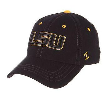 Licensed Lsu Tigers Official NCAA Black Element X-Small Hat Cap by Zephyr 099223 KO_19_1