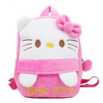 Toddler Backpack class Cute Children Plush Backpack for Baby Girl Cartoon Hello Kitty Lovely Schoolbag Kindergarten Toddler Gifts Toy School Bags AT_50_3