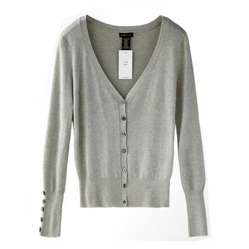 Apparel Quality Shell Button KNIT TOP Women's Loose Knitting Cardigan Knitting Shirt Shawl Shrugs