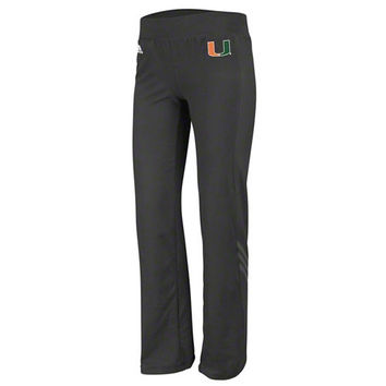 adidas Miami Hurricanes Women's Black Primary Logo Training Pants