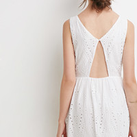 Cutout Back Eyelet Dress - Dresses - 2000130834 - Forever 21 UK