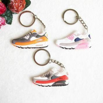 ONETOW Mini Silicone Airer 90 Keychain Key Chain Jordan Shoes Sneaker Car Key Holder Woman Me