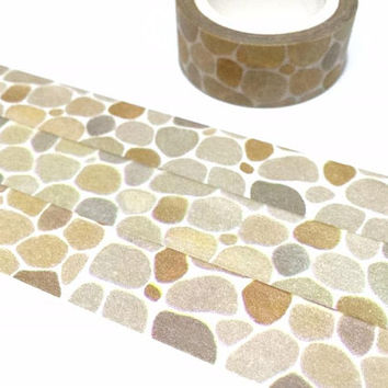 stone wall washi tape 7M rock stone flooring natural stone rock stone sticker tape classic wall masking tape pretty doll house decor gift