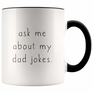 Ask Me About My Dad Jokes Accent Color Coffee Mug