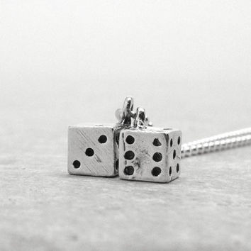 Dice Necklace, Sterling Silver