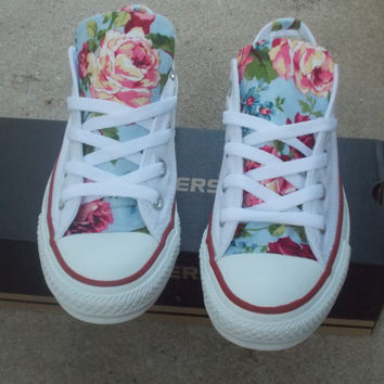 Custom Made Floral Converse shoes
