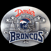 Denver Broncos NFL Enameled Belt Buckle