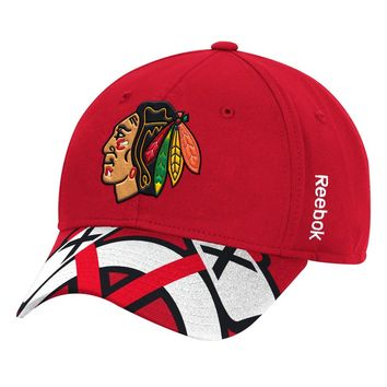 1dc2c620de1 Chicago Blackhawks Reebok Tomahawk Bill Structured Adjustable Hat