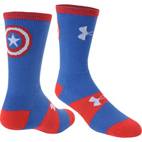 UNDER ARMOUR Men's Alter Ego Captain America Performance Crew Socks