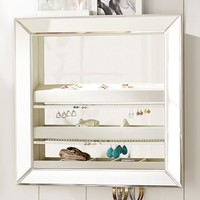 Mirrored Wall Jewelry Storage, Square