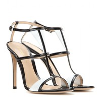 gianvito rossi - patent leather sandals