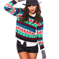 Christmas Print Sweater Set | Wet Seal