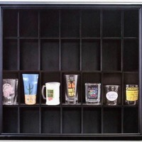 Pinnacle Black Shot Glass Case with Hinged Front