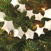 Origami Star Garland, White, Christmas Tree Garland, Party Decor, Home, Holiday, Nursery