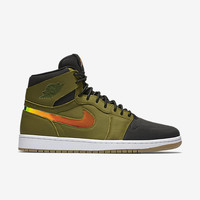 Air Jordan Retro 1 High Nouv Hyper Orange Militia Greens